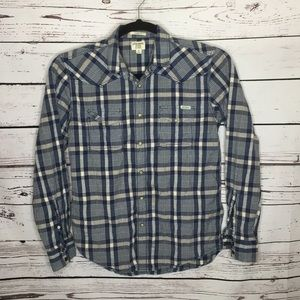 Lucky brand classic fit pearl snap shirt